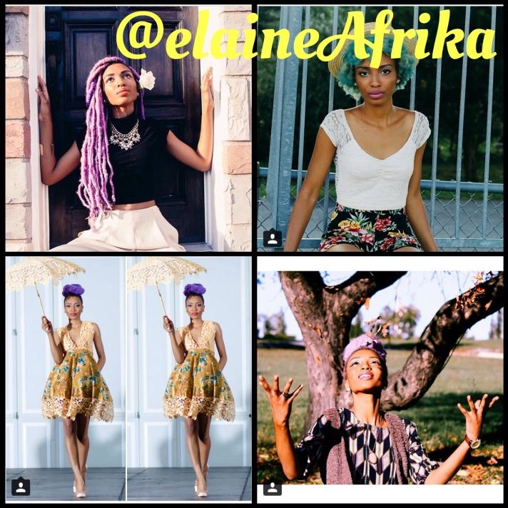 This cotton candy beauty Elaine Afrika @elaineafrika | Website: www.elaineAfrika.tumblr.com