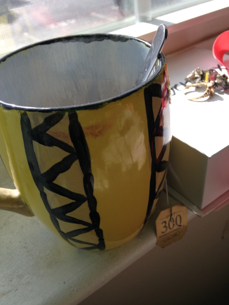 I have a love affair with Irish Breakfast Tea. I made this mug at Color Me Mine.